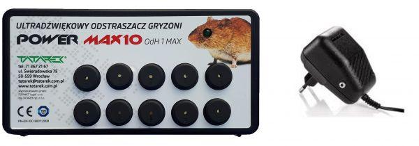 skuteczny odstraszacz gryzoni max elektroniczny odstraszacz myszy, kun, łasic - ultradźwiękowy